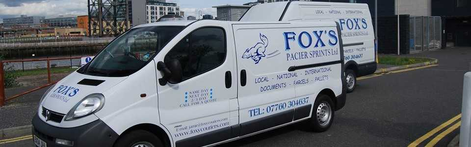 Couriers Glasgow can trust - White Fox Couriers Vans make a delivery