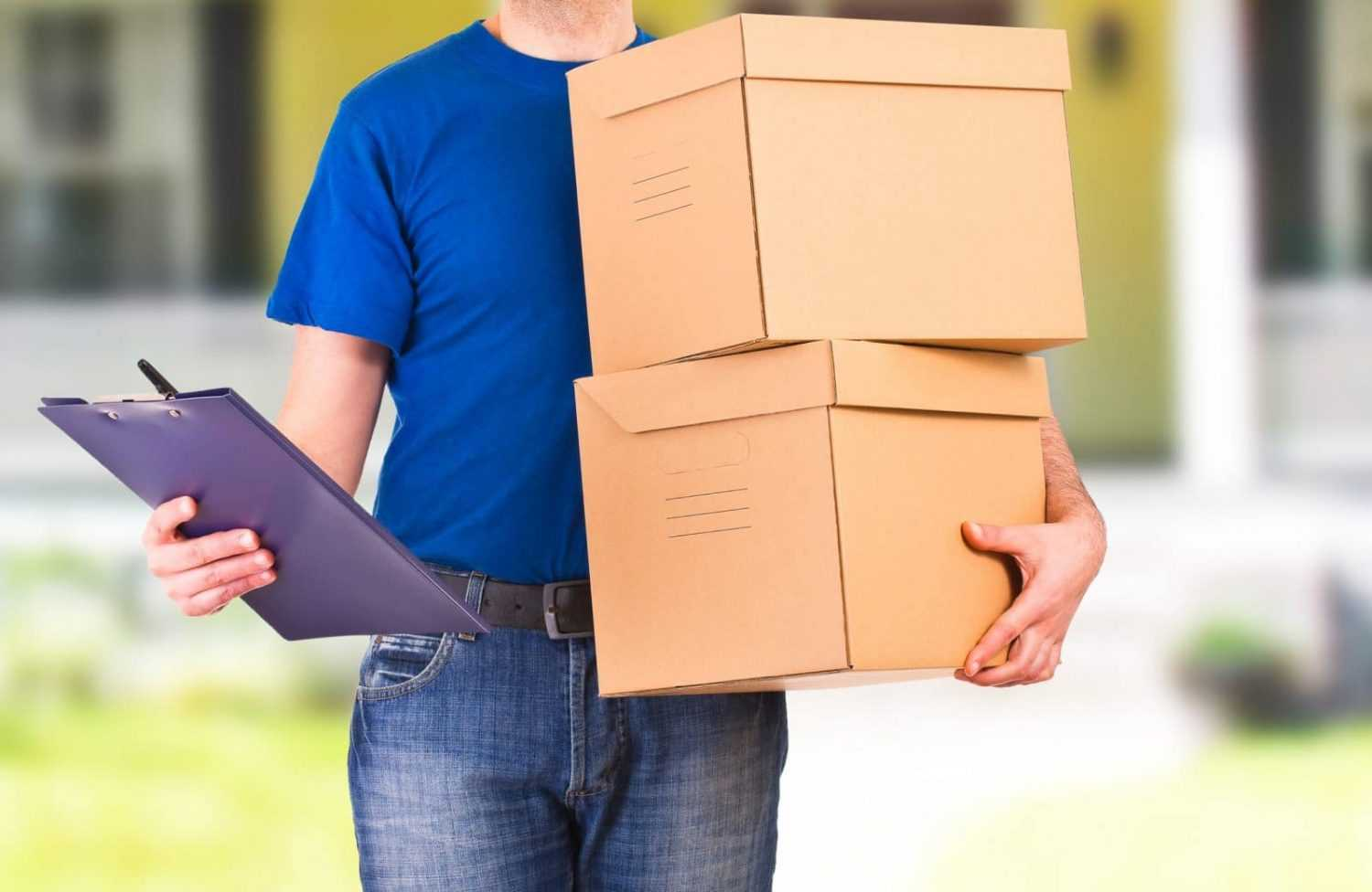 arrange a courier - delivery man